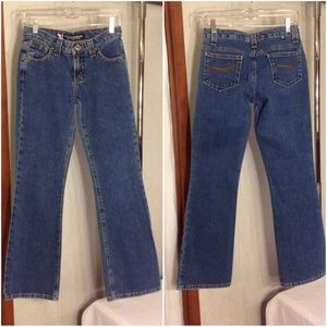 Women's Blue Denim Rockies Slim Low Rise Jeans